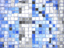 Abstract Cartoony Blue Square Blocks Stock Photo