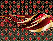 Abstract casino banner. With poker elements, vector illustration stock illustration