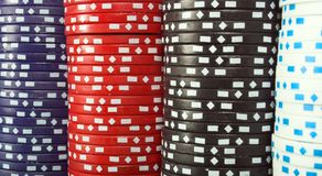 Abstract casino chips background Royalty Free Stock Photos