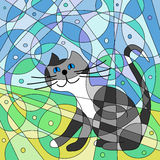 Abstract cat Stock Photo