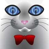Abstract cat face with big eyes. Abstract fantastic cat face with big eyes royalty free illustration