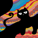 Abstract cat frame Stock Images
