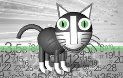 Abstract cat grey Stock Photography