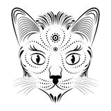 Abstract cat head Royalty Free Stock Photography
