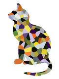 Abstract cat illustration Royalty Free Stock Image