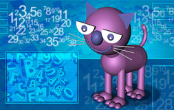 Abstract cat violet Stock Photo