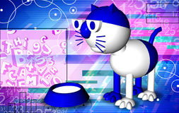 Abstract cat white Stock Image