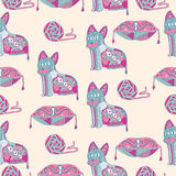 Abstract cats Royalty Free Stock Photos