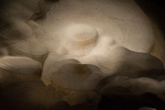 Abstract Cave. This was part of the cavern at Longhorn Caverns in Texas and it was an area of the cave with very smooth walls. The walls were very rounded Royalty Free Stock Photo