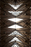 Abstract Ceiling. An abstract ceiling made of wood and glass Royalty Free Stock Image