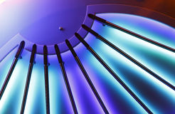Abstract Ceiling Lights. An abstract shot of ceiling lights taken onboard a cruise ship Stock Photo