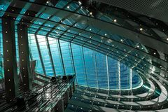 Abstract ceiling of modern architecture royalty free stock photo
