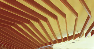 Abstract ceiling wooden fixture Royalty Free Stock Image