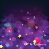 Abstract celebrate background. Abstract blurred background with bokeh effect. Wallpaper for celebrate or party invitation  design. Vector Royalty Free Stock Photo