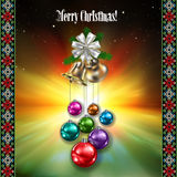 Abstract celebration background with Christmas dec Royalty Free Stock Image