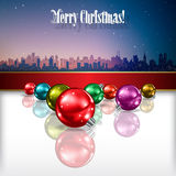 Abstract celebration background with Christmas dec Stock Photo