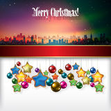 Abstract celebration background with Christmas dec Royalty Free Stock Photos