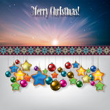 Abstract celebration background with Christmas dec Royalty Free Stock Photo