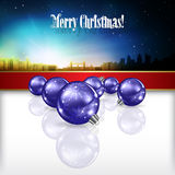 Abstract celebration background with Christmas dec Stock Images