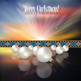 Abstract celebration background with Christmas dec Royalty Free Stock Images