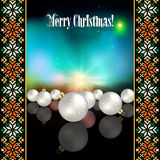 Abstract celebration background with Christmas dec Stock Photography