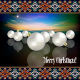 Abstract celebration background with Christmas dec Stock Photos