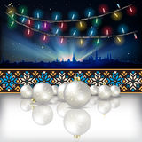 Abstract celebration background with Christmas decorations Royalty Free Stock Image