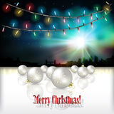 Abstract celebration background with Christmas decorations Royalty Free Stock Images