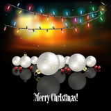 Abstract celebration background with Christmas decorations Royalty Free Stock Photography