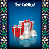 Abstract celebration background with Christmas gif Royalty Free Stock Photography