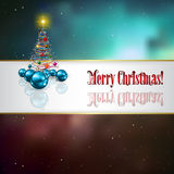 Abstract celebration background with Christmas tre Stock Images