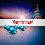 Abstract celebration background with Christmas tre Stock Image