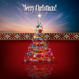 Abstract celebration background with Christmas tre Royalty Free Stock Images