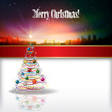 Abstract celebration background with Christmas tre Stock Photography