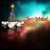 Abstract celebration background with Christmas tre. E and decorations Royalty Free Stock Photo