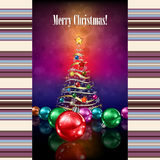 Abstract celebration background with Christmas tre Royalty Free Stock Photography