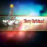 Abstract celebration background with Christmas tre Royalty Free Stock Photos