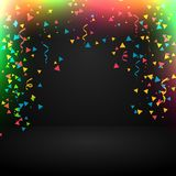 Abstract celebration background with confetti. Vector Royalty Free Stock Image