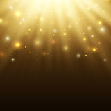 Abstract celebration background with particles and Stock Image
