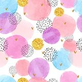 Abstract celebration background with watercolor circles vector illustration