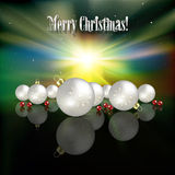 Abstract celebration background with white Christm Stock Images