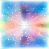 Abstract Celebration Background With Snowflakes And Stars Stock Image