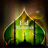 Islamic greeting card for Eid Mubarak Stock Photos