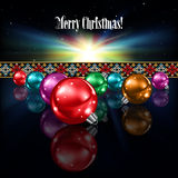 Abstract celebration greeting with Christmas decor Stock Photography