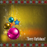 Abstract celebration greeting with Christmas decor Stock Photo