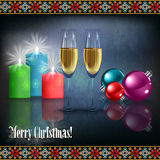 Abstract celebration greeting with Christmas decor Royalty Free Stock Image