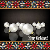 Abstract celebration greeting with Christmas decor Stock Image
