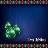 Abstract celebration greeting with Christmas decor Royalty Free Stock Photo