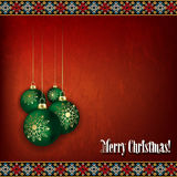 Abstract celebration greeting with Christmas decor Royalty Free Stock Images
