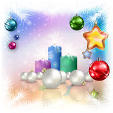 Abstract celebration greeting with christmas decorations Royalty Free Stock Images